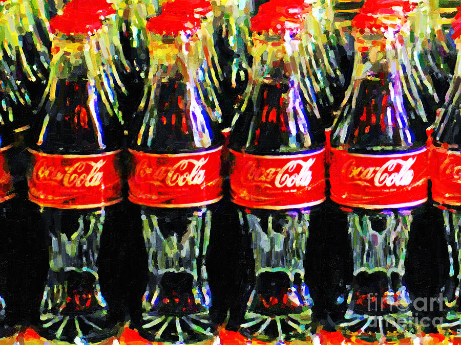 Wingsdomain Photograph - Coca Cola Coke Bottles by Wingsdomain Art and Photography