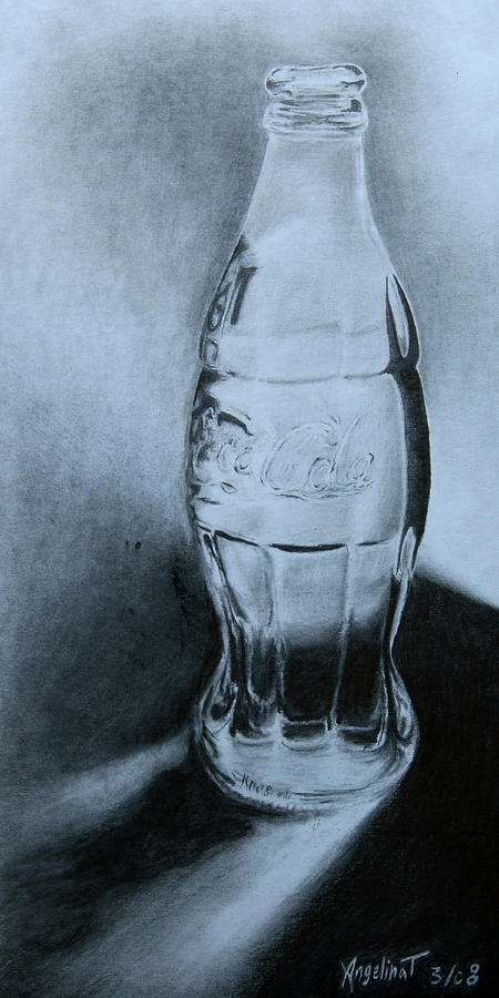 Pencil Drawing - Coca-cola For You  by Angelina G T