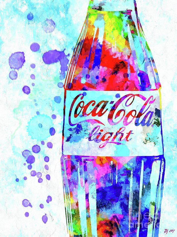 Coca Cola Light Mixed Media - Coca Cola Light by Daniel Janda