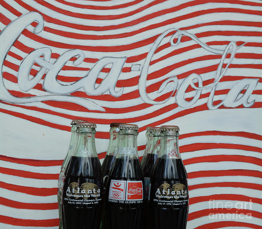 Coca Cola Mixed Media - Coca Cola Olympic Commemorative Bottles by To-Tam Gerwe