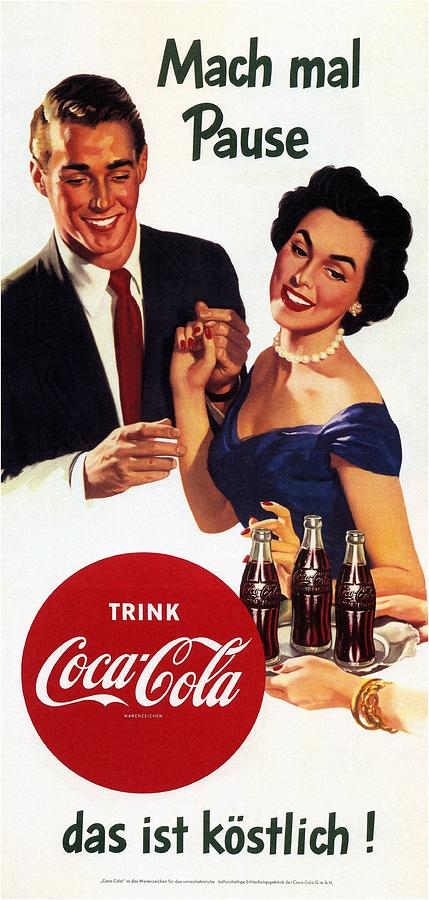 Coca Cola - Vintage Cool Drinks Advertising Poster