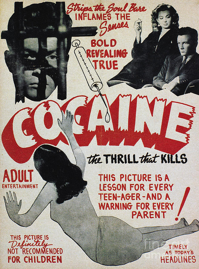 1940s Photograph - Cocaine Movie Poster, 1940s by Granger