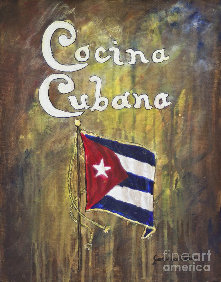 Kitchen Painting - Cocina Cubana by Janis Lee Colon