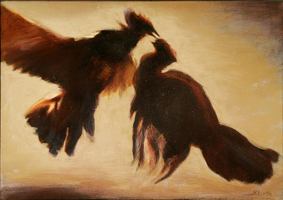 Cock Painting - Cock Fight by James LeGros