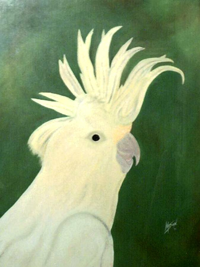 Bird Painting - Cockatoo by Guillermo Mason
