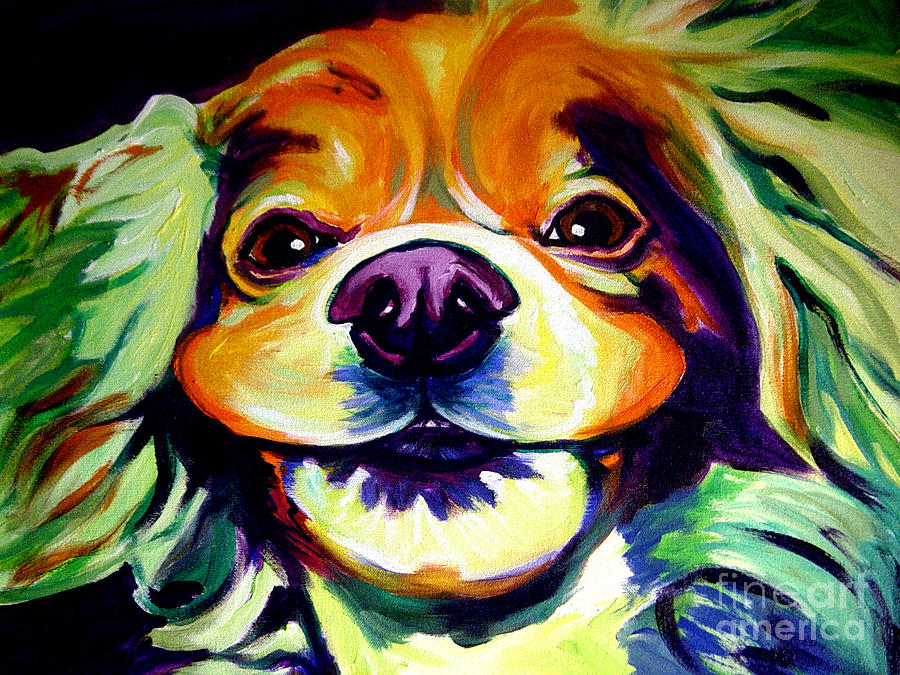 Dog Painting - Cocker Spaniel - Cheese by Alicia VanNoy Call