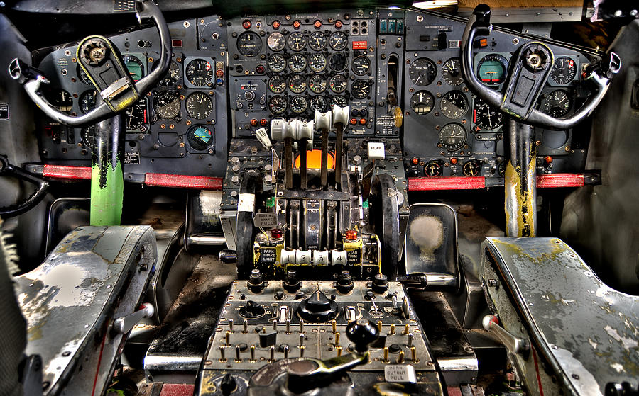 Cockpit Photograph - Cockpit Controls Hdr by Kevin Munro