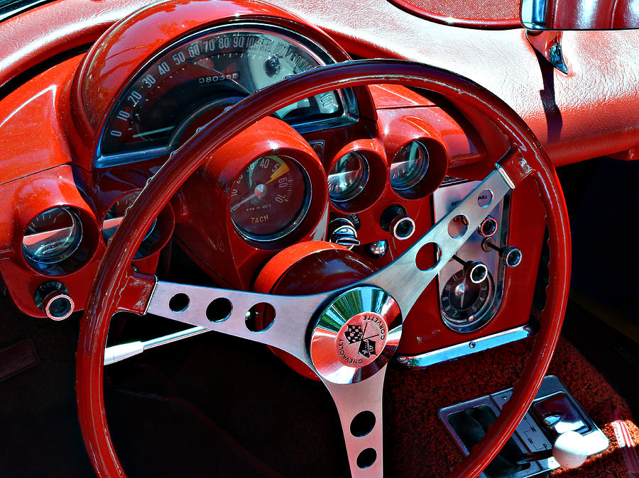 Cockpit Instrument Cluster Corvette At The Golden State - Paso robles car show