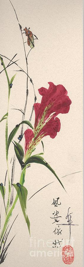Flower Painting - Cockscomb by Linda Smith