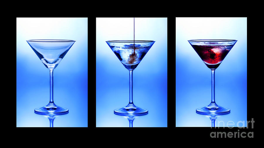 Alcohol Photograph - Cocktail Triptych by Jane Rix