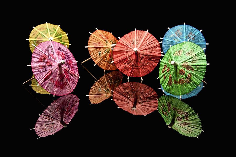 Cocktail Photograph - Cocktail Umbrellas II by Tom Mc Nemar