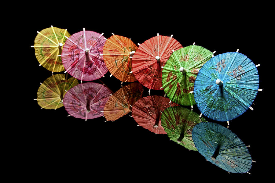 Cocktail Photograph - Cocktail Umbrellas IIi by Tom Mc Nemar