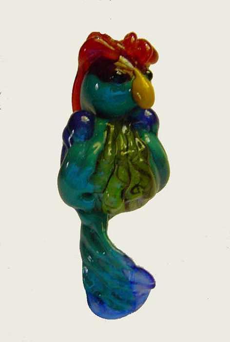 Parrot Sculpture - Cocky PArrot by Cecilia Alvarez