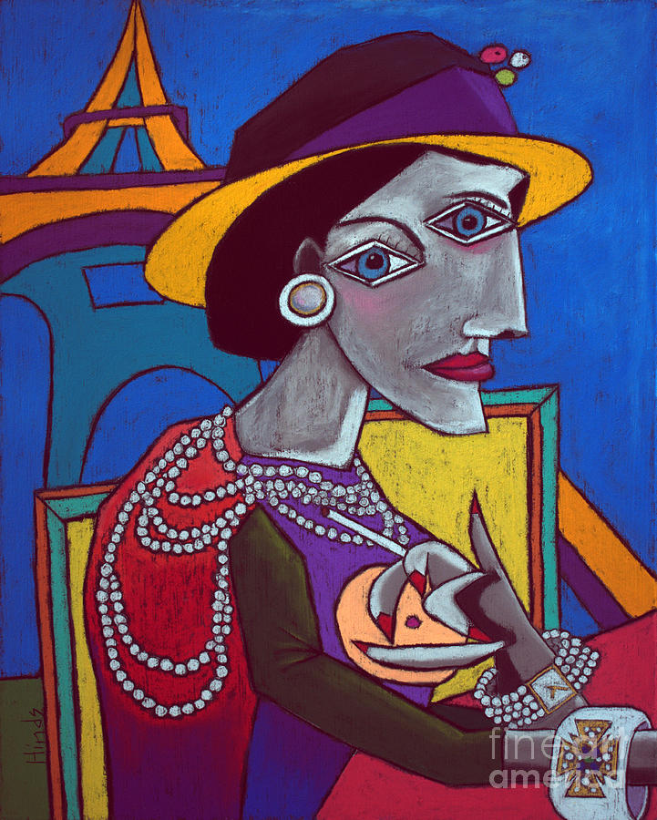 Coco Chanel Painting - Coco Chanel by David Hinds