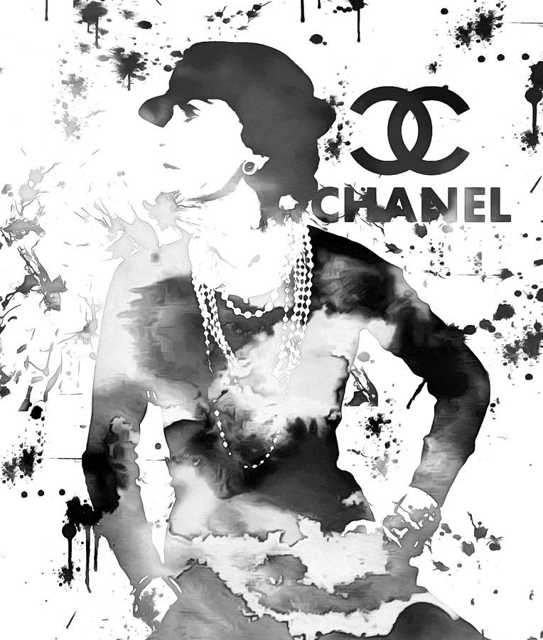 Coco Chanel Painting - Coco Chanel Grunge by Dan Sproul