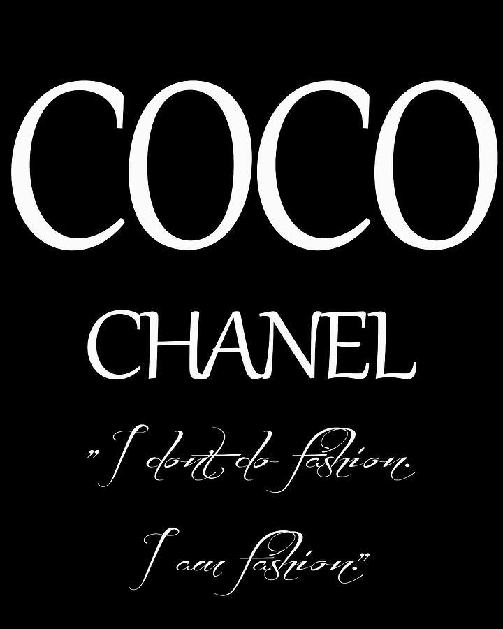 Coco Chanel Quote Digital Art