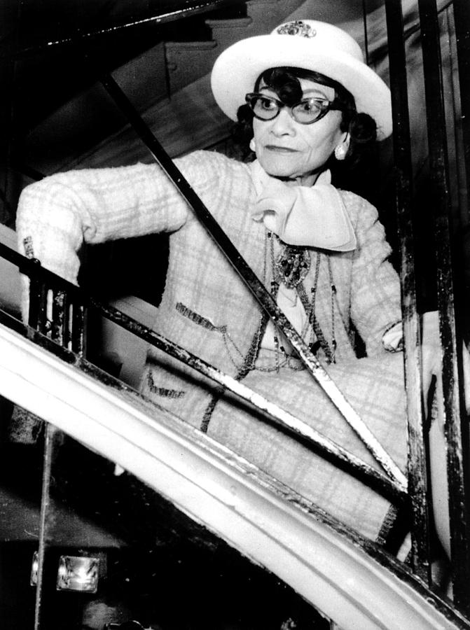 1960s Fashion Photograph - Coco Chanel, Watching Her 1969 by Everett