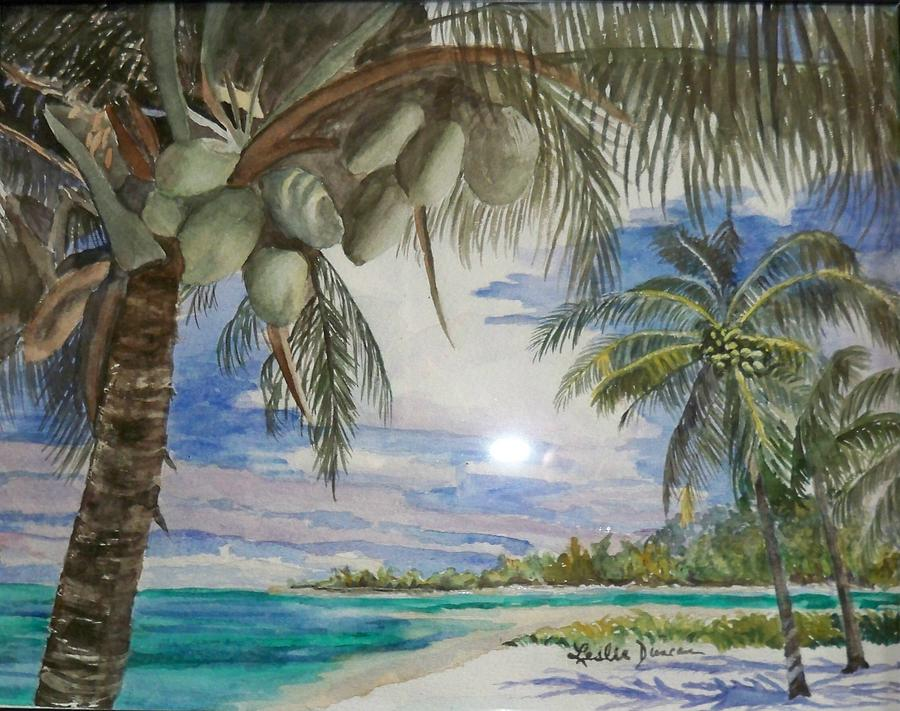 Beach Painting - Coconut Beach by Leslie Duncan