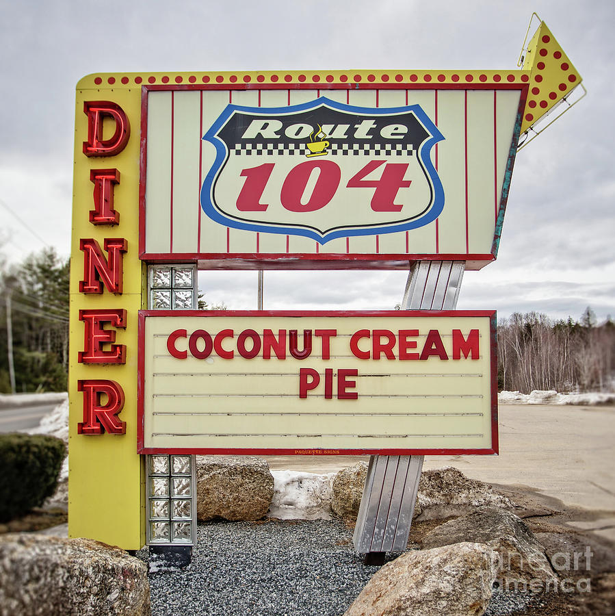 Diner Photograph - Coconut Cream Pie At The Route 104 Diner by Edward Fielding