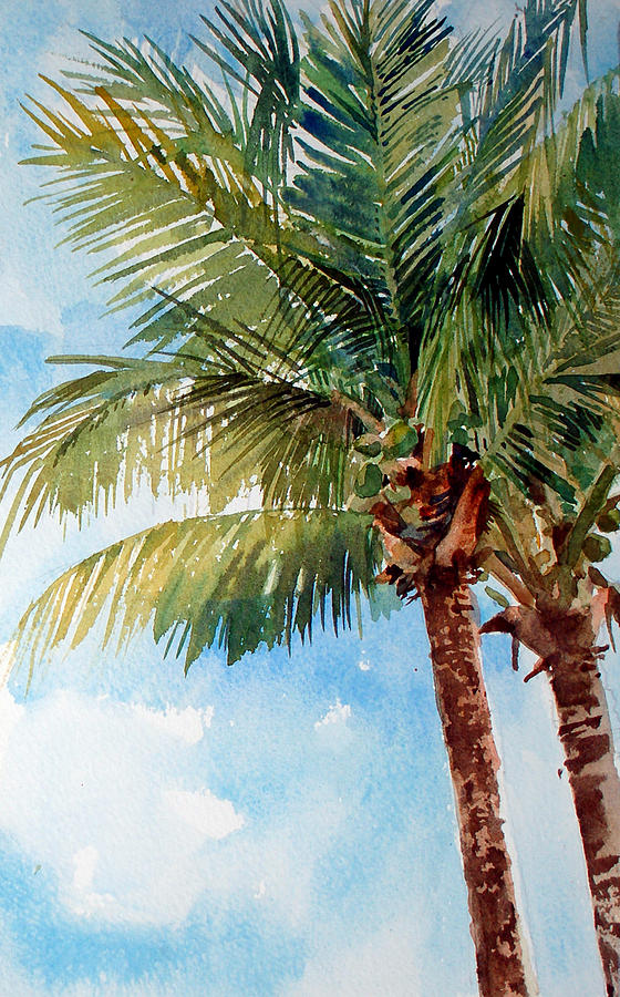Coconut Palm Painting - Coconut Palm by Peter Sit