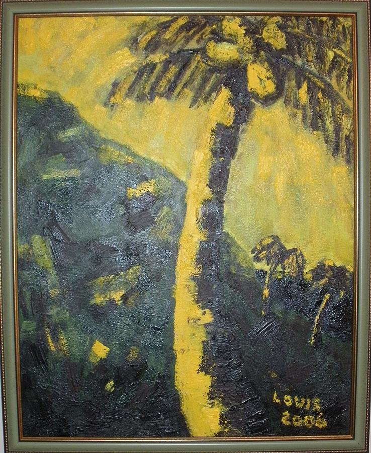 Palms Painting - Coconut Tree by Louis  Stephenson