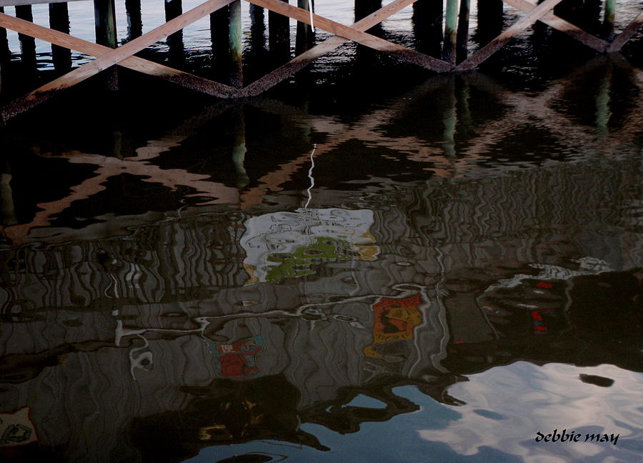 Wharf Photograph - Coconuts Wharf-picasso Style by Debbie May
