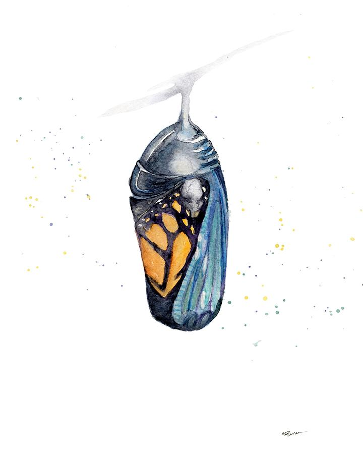 Watercolor Painting Painting - Cocoon by Melissa Burke