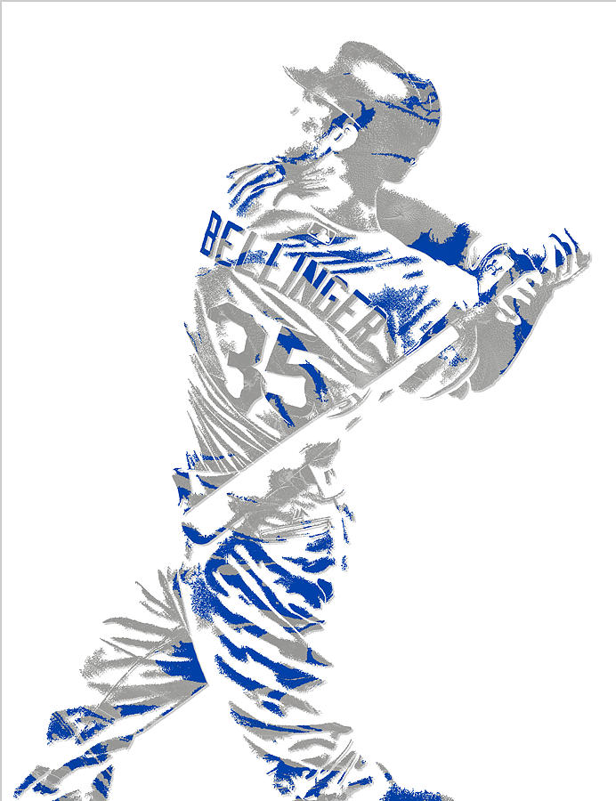 Dodgers Mixed Media - Cody Bellinger Los Angeles Dodgers Pixel Art 2 by Joe Hamilton