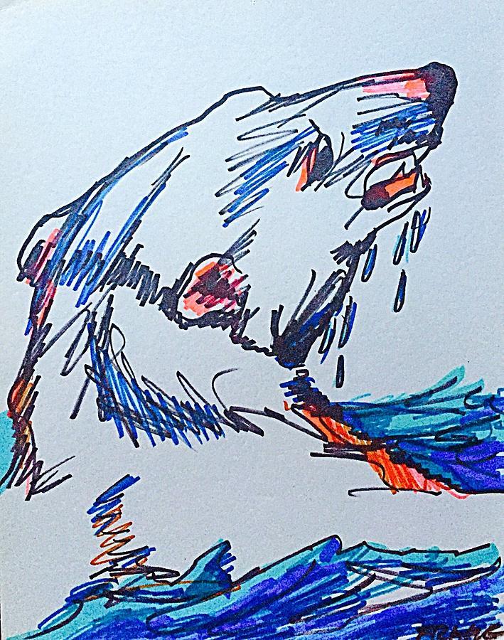 Polar Bear Drawing - Codys Critters - Mr. Polar Bear by George Frayne