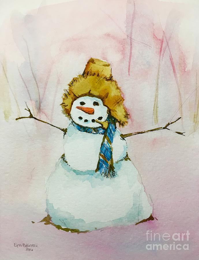 Snow Painting - Codys First Frosty by Lynn Babineau