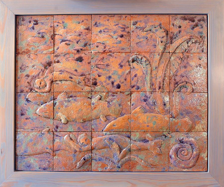 Coelacanths Relief by Raimonda Jatkeviciute-Kasparaviciene