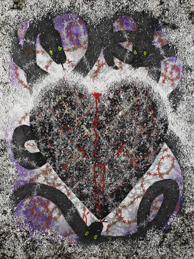 Heart Mixed Media - Coeur Obscursi by Arnuda