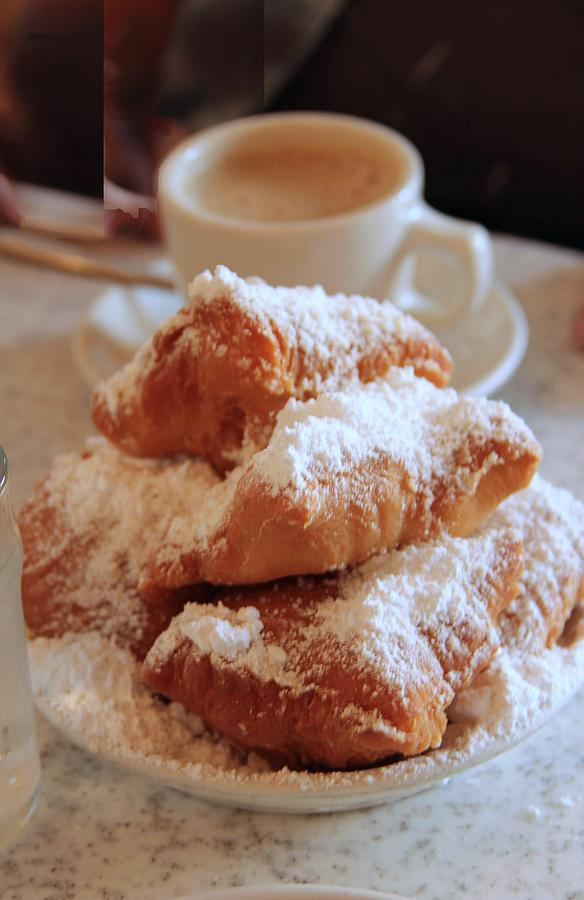 New Orleans Photograph - Coffee And Beignets by Marie Alvarez