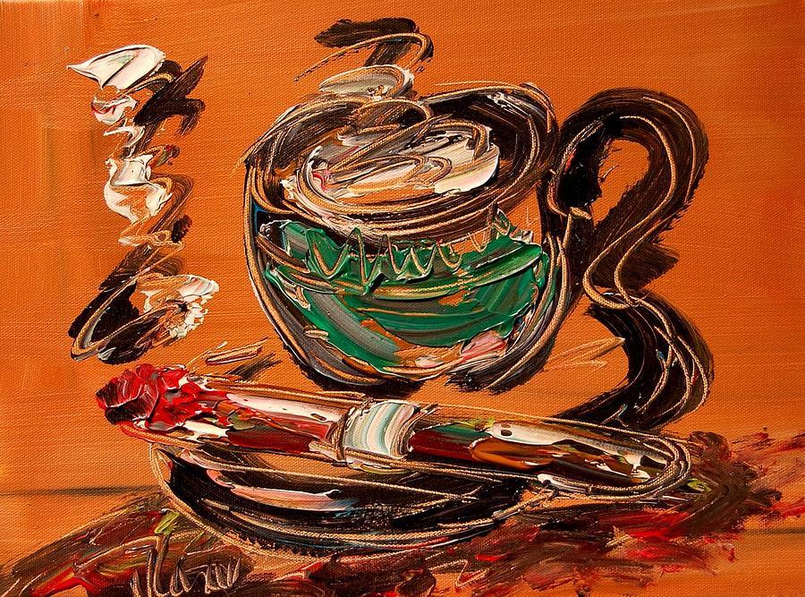 Coffee And Cigar Painting by Mark Kazav