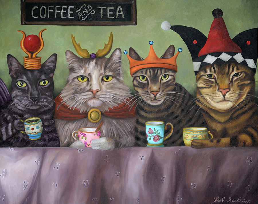 Coffee and Tea by Leah Saulnier The Painting Maniac