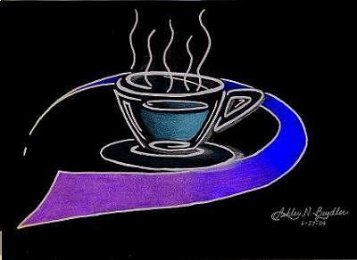 Coffee Drawing - Coffee by Ashley Cameron