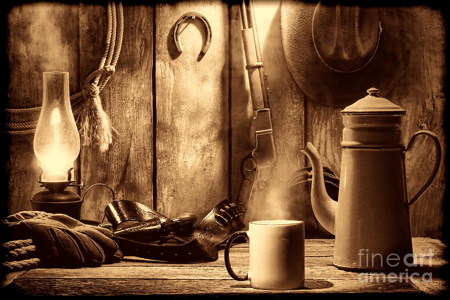 Coffee at the Cabin by American West Legend By Olivier Le Queinec