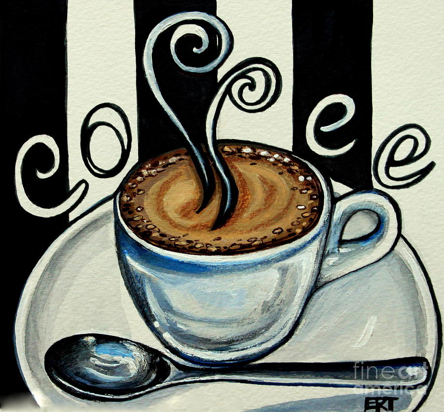 Картинка для, рисунок с кофейной тематикой