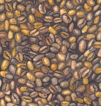 Food Painting - Coffee Beans by Elizabeth H Tudor