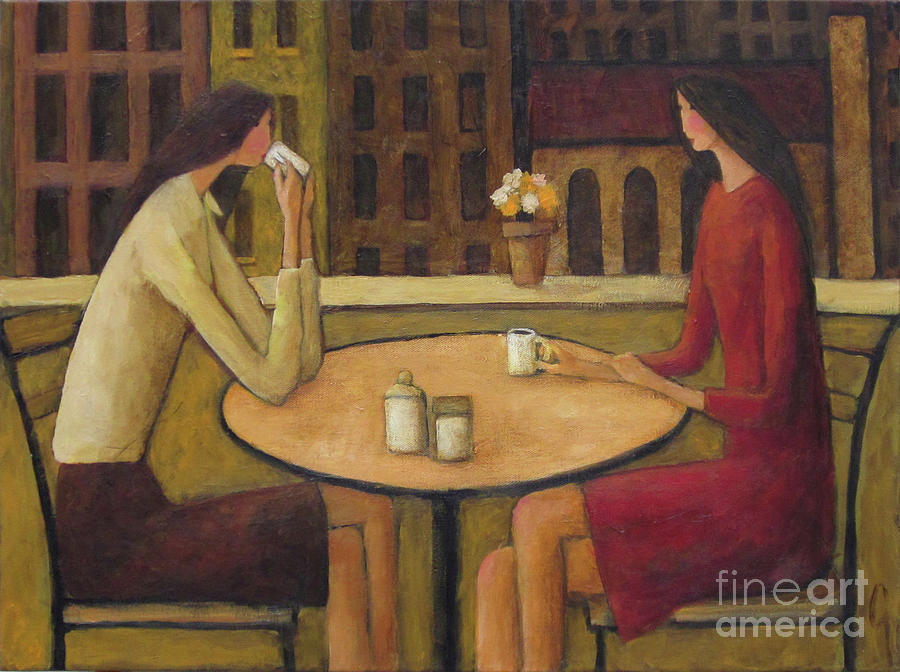 Coffee Painting - Coffee Break by Glenn Quist