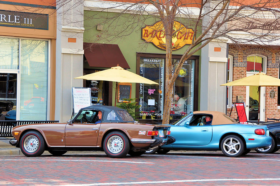 Vehicles Photograph - Coffee Break by Jan Amiss Photography