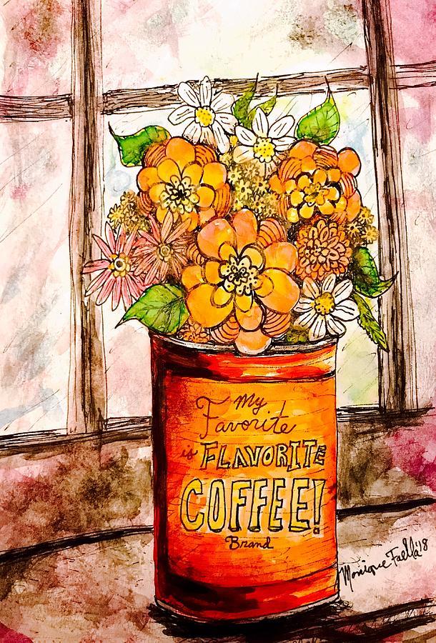 Coffee Can Bouquet  by Monique Faella