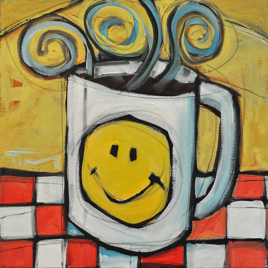 Coffee Cup One Painting by Tim Nyberg