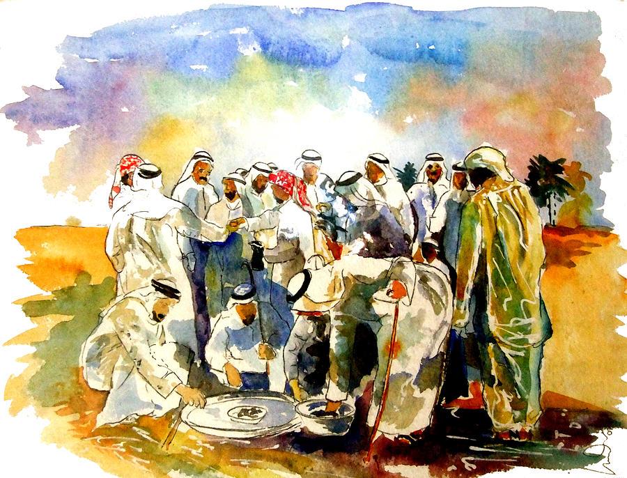 Coffee Date Painting - Coffee Date by Mike Shepley DA Edin