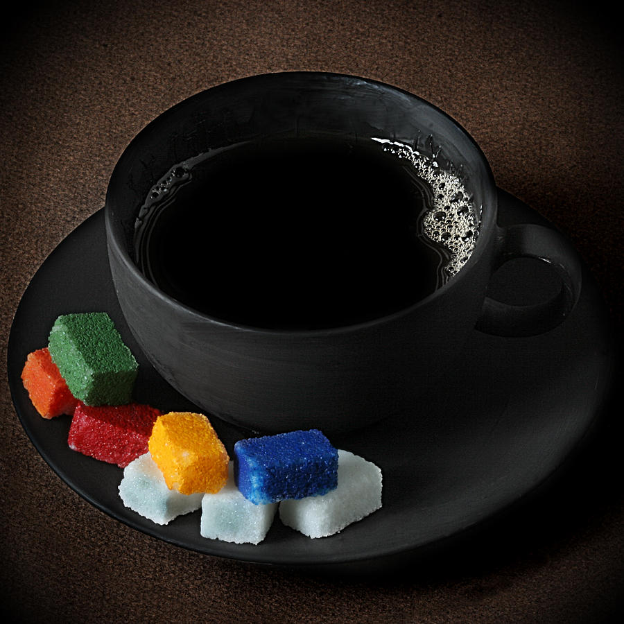 Coffee Photograph - Coffee for Mister Mondrian  by Floriana Barbu