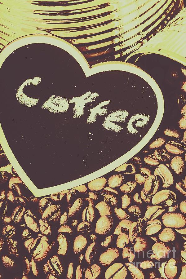 Bean Photograph - Coffee Heart by Jorgo Photography - Wall Art Gallery