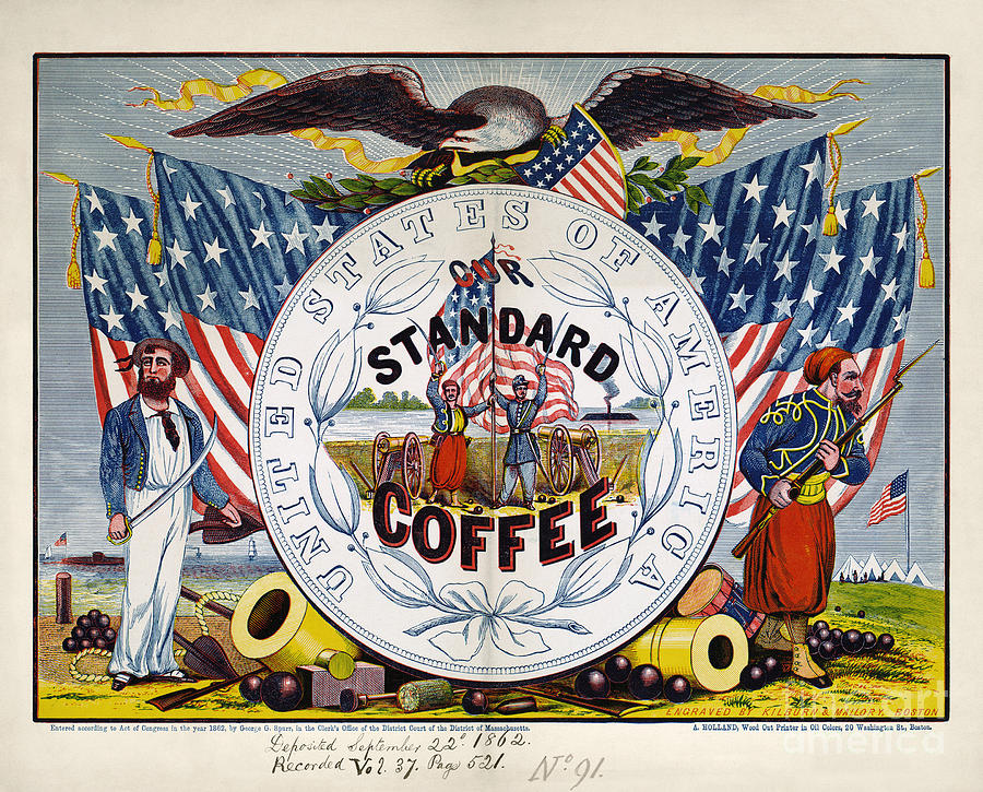 1862 Photograph - Coffee Label, C1862 by Granger