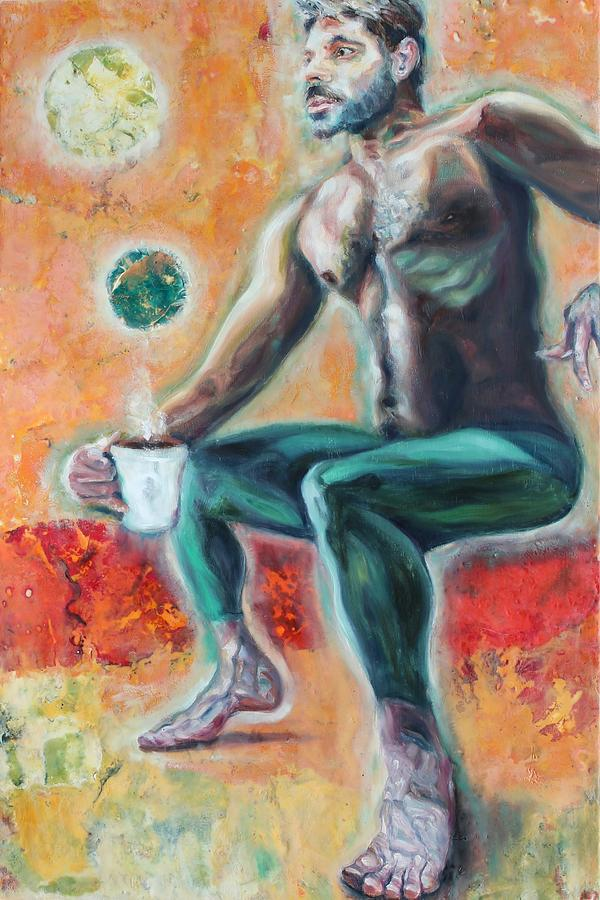 Coffee Man Two Painting