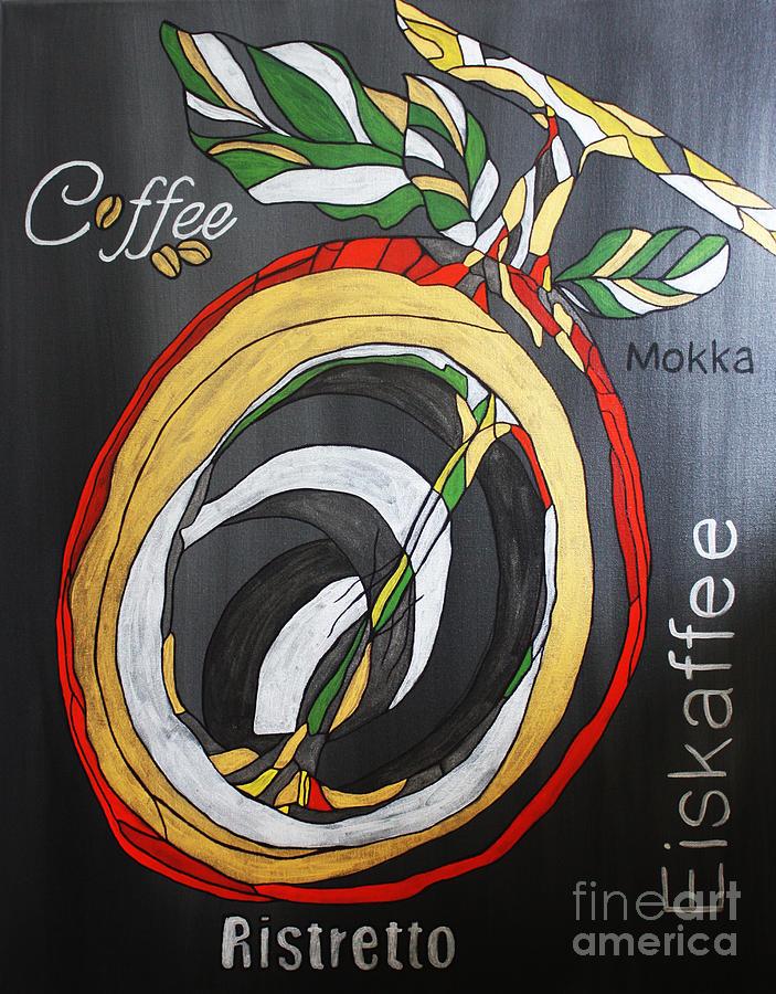 Kitchen Decor Painting - Coffee Mokka by Kathleen Artist PRO
