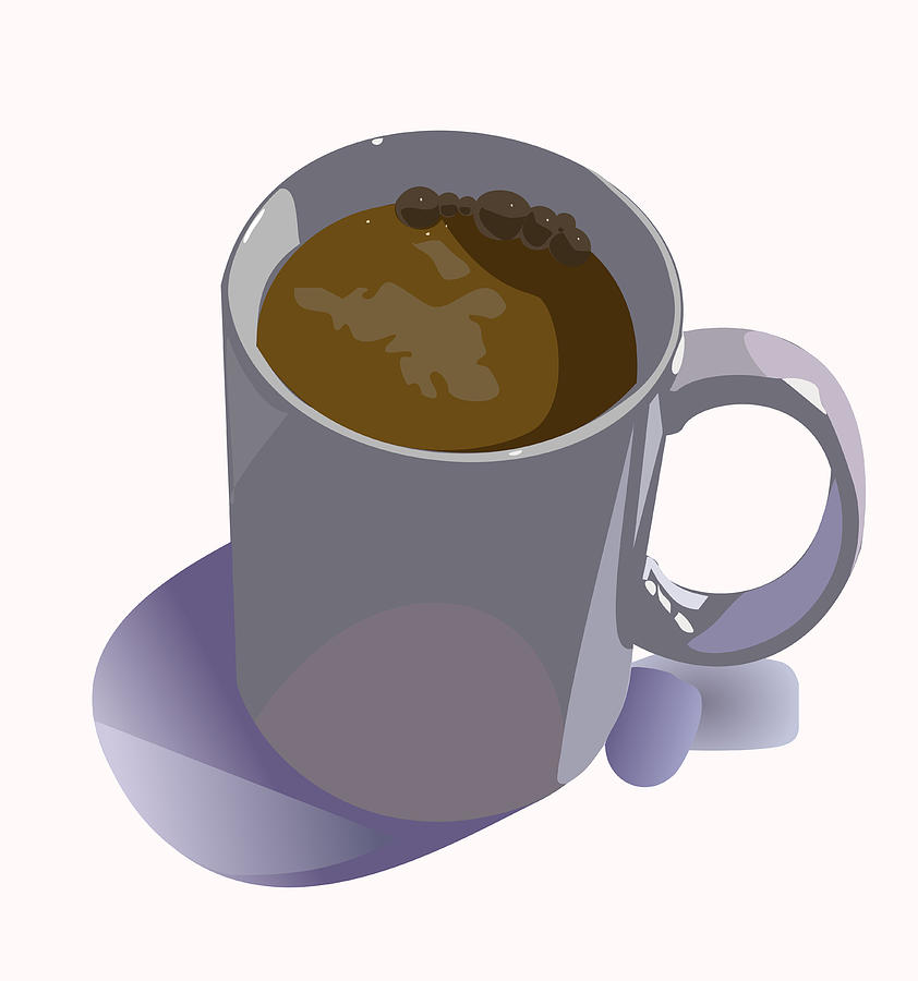 Coffee Digital Art - Coffee Mug by Robert Bissett